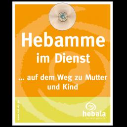 """Parkschild """"Hebamme im Dienst"""", Orange"""