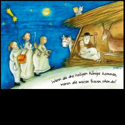 """Weihnachtskarte """"Die drei weisen Frauen"""""""