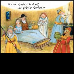"""Weihnachtskarte """"Kleine Gesten"""""""