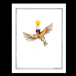 """Trauerkarte """"Kerzenvogel"""""""